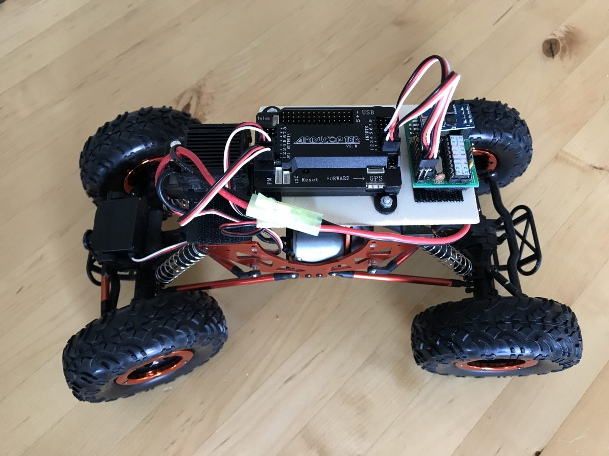 Ardupilot Mega Rover remotely controlled with smartphone