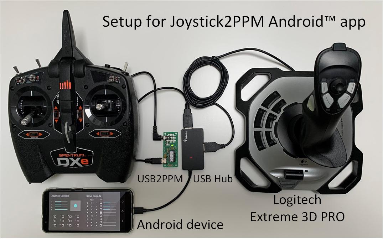 Joystick model remote control with Spektrum DXe (2)